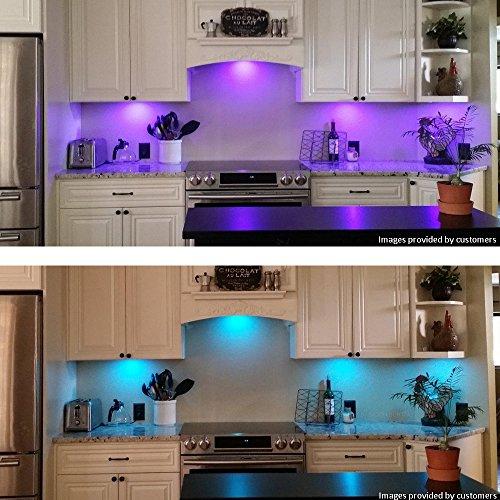 led k che unter kabinett beleuchtung multi farbe ver nderbar led akzentbeleuchtung f r schrank. Black Bedroom Furniture Sets. Home Design Ideas