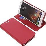 foto-kontor Tasche für Oukitel K6000 Plus Book Style Ständer Schutz Hülle Buch rot