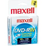 Maxell DVD-RW Rewritable For Camcorder 1.4GB 2 Pk DVD-RW 567625 Pack Of 5