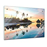 Bilderdepot24 Memoboard 60 x 40 cm, Landschaft - Tropischer Sonnenuntergang
