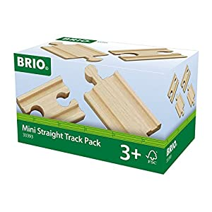 Brio - Pack de vías rectas mini (33393)