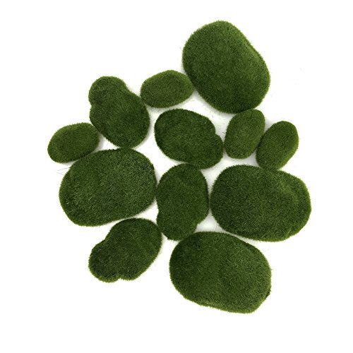 ert Größe Grün Künstliche Moos Rocks Dekorative Faux Fuzzy Moos, Steinen für Blumenarrangements Vasen Füllstoffe Und, ()