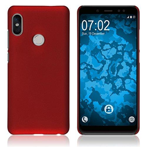 PhoneNatic Case kompatibel mit Xiaomi Redmi Note 5 Pro - Hülle rot gummiert Hard-case Cover Rot Hard Case