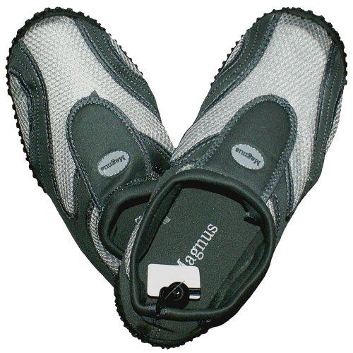 Unbekannt 1 Paar Herren Aquaschuhe, grau/grau, Größe:45, Badeschuhe, Surfschuhe, Schuhe, 0801