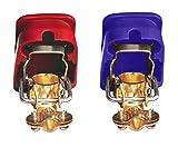 Gummiprodukt M 67-2Stück Batterieschnellklemmen in Rot und Blau