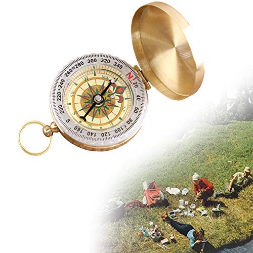 1pcs Rame Flip Strumenti Pocket Compass Navigation Stile Della Vigilanza Escursione Di Campeggio Esterna Portatile Bussola Di Metallo Con Le Funzioni Luminose