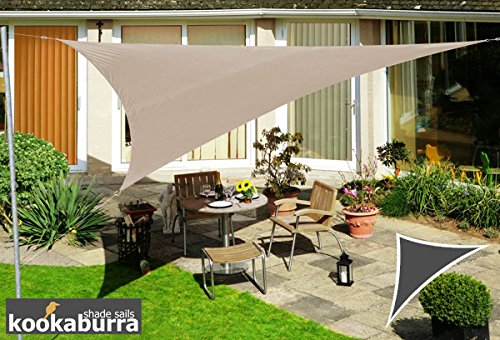 Kookaburra Voile d'Ombrage Imperméable 6,0m × 4,2m Triangle Rectangle Taupe