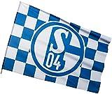 FC Schalke 04 Hissfahne/ Hissflagge 'Karos' 150x100 cm (Fahne) (2 Ösen)