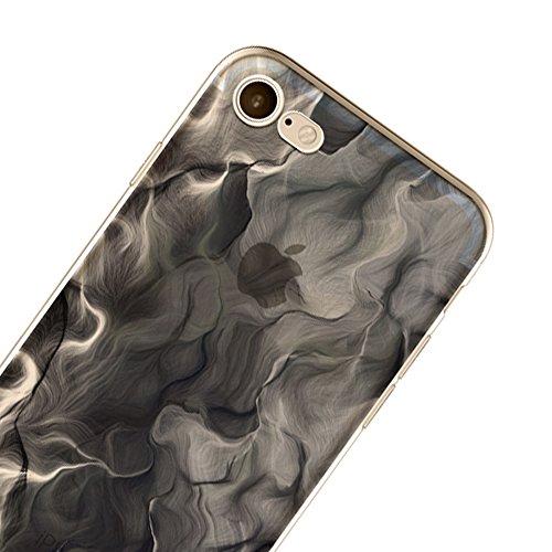 Sunroyal Ultra Slim TPU Silicone Coque Case pour iPhone 6 Plus / 6S Plus (5,5 pouces), Ultra Light Soft Souple Gel Transparent Clair 3D Vague Encre Créatif Coloré beau conception Housse Hull avec Ink  Modèle-10