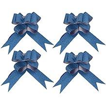 kraftz®–30mm Turquesa Mariposa Azul Metálico Brillante Lazos Para Fiestas Boda Decoración Del Coche De Regalo (Pack de 10)