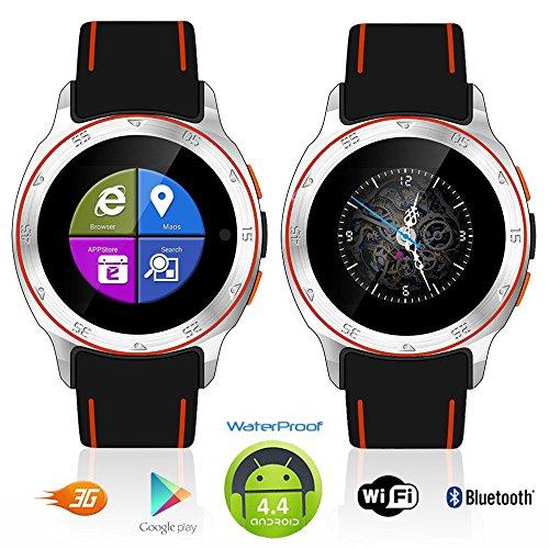 Indigi® Sport 3G Smartwatch Handy wasserdicht Android 4.4WiFi entsperrt AT & T T-Mobile Smart Uhren Entsperrtes Smartphone