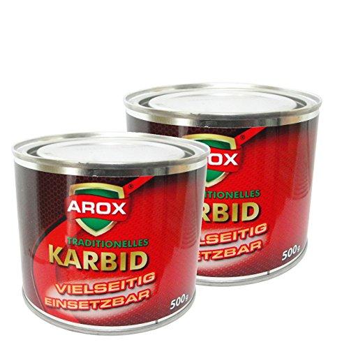 AROX-1Kg-Karbid-ALT-BEWHRT-SEHR-ERGIEBIG-in-groen-Stcken-fr-langanhaltende-Wirkungsdauer-und-hohe-Gasentwicklung-fr-Karbidlampen-Karbidschweien-usw-Carbid-Calciumkarbid