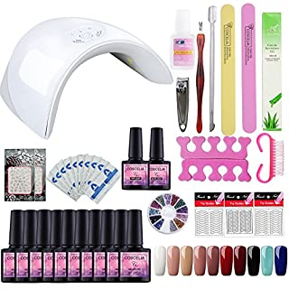 Saint-Acior Gel Nail Polish Starter Kit 36W Nail Lamp Dryer Led 10 Colors Gel Soak Off Top Base Coat Manicure Nail Art Tool Salon Set