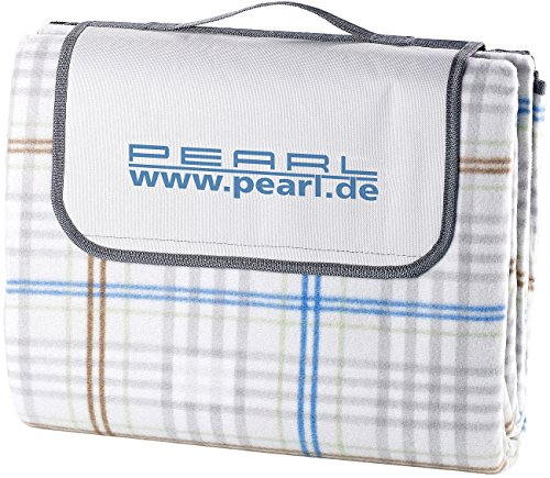 PEARL Picknickdecken: wasserdichte XXL-Picknick-Decke aus Fleece, 2,5 x 2 m (Picknickdecke wasserdicht waschbar)
