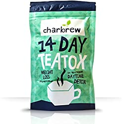 Charbrew Day Time 14 Tage Körper-Detox-Tee-Behandlung - 100% natürliche Teemischung - Fett verbrennen, Gewicht verlieren Tee, Gewicht verlieren