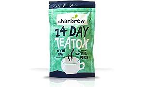 Charbrew 14 Jours De Régime Jour Détox - Thé Minceur, Bruleur De Graisse, Perte De Poids