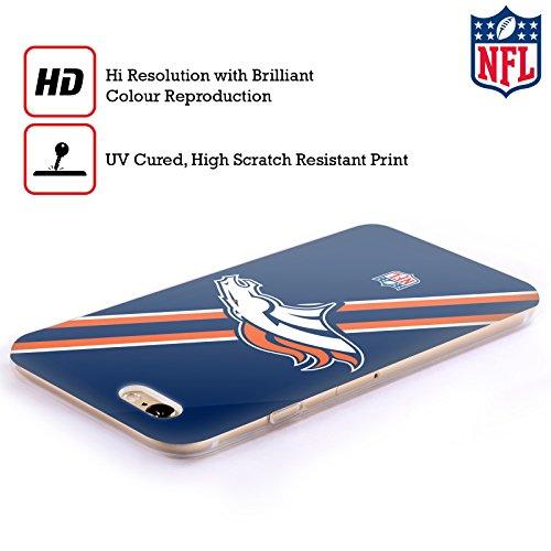 Offizielle NFL Helm Denver Broncos Logo Soft Gel Hülle für Apple iPhone 5 / 5s / SE Streifen