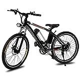 mymotto Vélo Electrique Montagne E-bike 250W à Grande Vitesse Aluminium Alliage Cadre avec 26 Pouces Roue et Batterie Amovible au Lithium 26' Noir