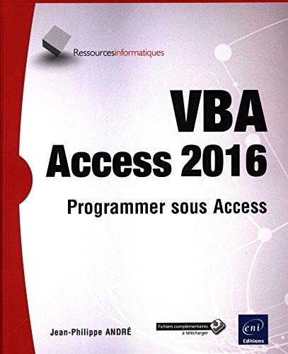 VBA Access 2016 - Programmer sous Access