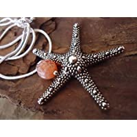 ✿ AGATE e stelle marine ✿ catena del serpente d'argento 925 con pietra semipreziosa Achat (78)