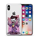 DC Comic de Superman, The Flash, Aquaman, Batman, Wonder Woman, Green Lantern, Le Joker, Harley Quinn Jelly Clear Coque pour Apple iPhone XS Max (16,5cm) Joker