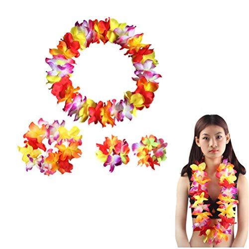 Zonster 4pc / Set Tropical Hawaiian Luau Blumen-Partei-Bevorzugungen Dekoration Hawaii-Party Bachelorette Party Dschungel-Strand-Thema-Partei-Dekor