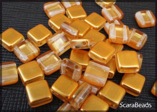 40pcs-tcheque-perles-de-verre-estrela-beads-deux-trous-carreau-6x6x32mm-topaz