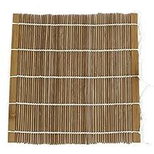 Esterilla de rollo de sushi - TOOGOO(R)Esterilla de bambu laminado Bento hecho de mano de rollo de sushi caqui