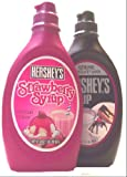 Hershey's Chocolate Syrup and Strawberry Syrup