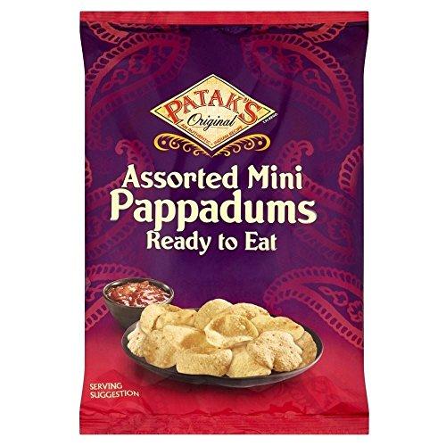 Assorted Mini Pappadums de Patak (de 75g) - Paquet de 2