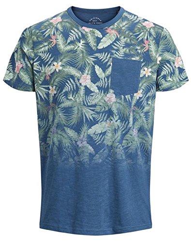 JACK & JONES - Camiseta - para Hombre Azul Oscuro Denim Small