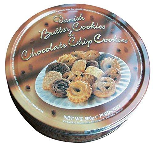 Preisvergleich Produktbild Danish Butter Cookies & Chocolate Chip Cookies