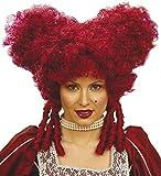 Barock Damen Perücke Rot Herzkönigin Alice im Wunderland Königin Renaissance Rokoko