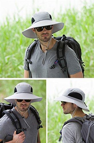 Sombrero de ala ancha de al aire libre para hombre Boonie Sombrero ... 1c6b4cf5d59