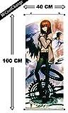 CoolChange Großes Steins Gate Rollbild / Kakemono aus Stoff Poster, 100x40cm, Motiv: Kurisu Makise