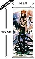 CoolChange Poster enrollable/ kakemono de Steins Gate en tejido, 100x40cm, tema: Kurisu Makise