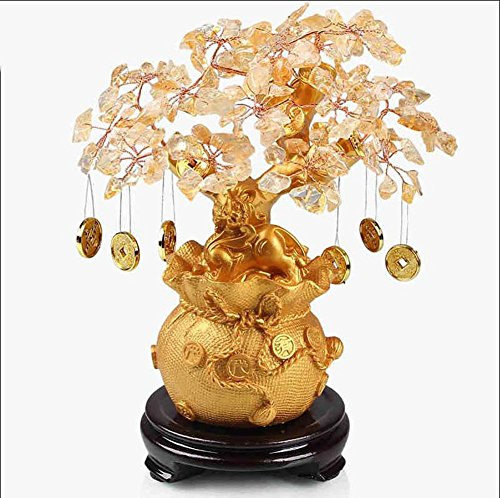 Mestieri decorazione dell'albero di resina di cristallo Casa gialla soggiorno Ingresso Mobile TV vini decorazione creativa di Lucky ufficio studio di regalo aperto