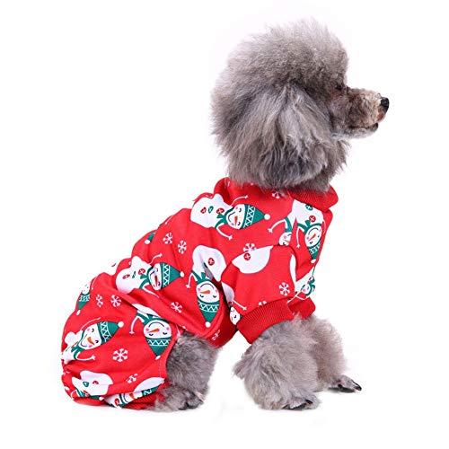 CHIYEEE Weihnachten Haustier Lustig Kleidung für Hunde und Katzen Niedlich Hundebekleidung Welpen Halloween Sweatshirt T-Shirt Kostümiert S