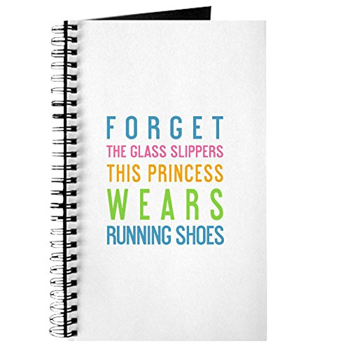 sen das Glas Hausschuhe This Princess Wears Nandine-Spiralbindung Journal Notebook, persönliches Tagebuch, Dot Grid ()