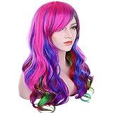 """Ambielly 32 """"/ 80 cm de pelo Iridescence del partido de Cosplay de la peluca de las mujeres peluca rizada larga ondulada (Iridiscencia)"""
