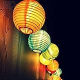 Samoleus Solar Outdoor Lichterkette 4.8 Meter 20 LEDs Lampions Laterne Solarbetrieben Lichterkette Wasserfest Weihnachten Dekoration für Garten, Terrasse, Hof, Haus, Weihnachtsbaum, Feiern (Farbe)