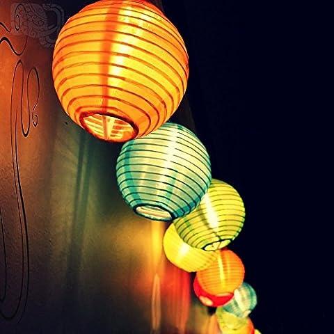 BlueFire solar lichterkette lampions, 4.8m 20 LEDs Laterne 2 Modi Beleuchtung, Wasserdicht Aussen Innen Weihnachtsbeleuchtung für Garten, Terrasse, Hof, Haus, Weihnachtsbaum, Feiern(Bunt)