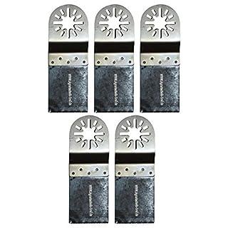 Agrartechnik-Graf Bi-Metall Sägeblatt 34 mm für Holz, Plastik und Metalle 5er Set für Fein Multimaster