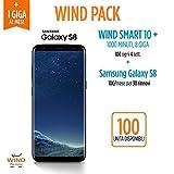 Promo Wind Pack - Samsung Galaxy S8, 64 GB, Midnight Black (Anticipo) + SIM Wind Ricaricabile con offerta Wind Smart 10+