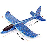 Sage Square Large Throwing Foam Plane, Dual Flight Mode, Aeroplane Gliders, Flying Aircraft, Gifts for Kids, Outdoor…