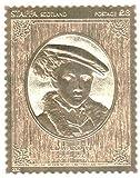 timbres d'or - Staffa 1977 Silver Jubilee Edouard VI 23k feuille d'or timbre de la Reine - Haute qualité - jamais montés - Ne jamais articulé.