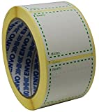 ENVO 500x Etichette congelation su Rotolo, dimensioni 50x 50mm quadrati, bianco e verde etichette di data uso per i contenitori riutilizzabili