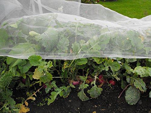 Easynets Filet de protection de 1,8 m de large pour légumes 1.8m x 3m blanc