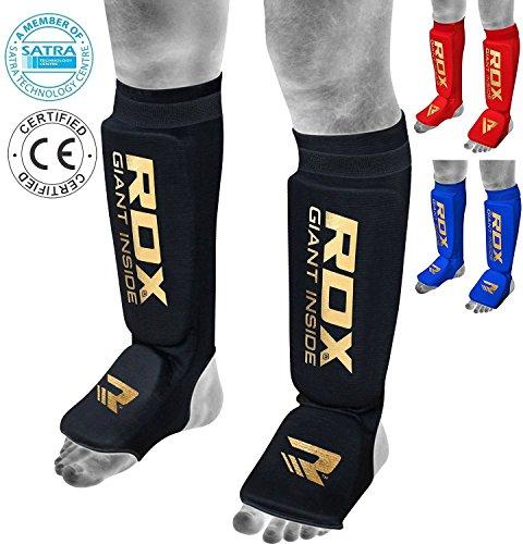 RDX Espinilleras Kick Boxing Boxeo MMA Protección Muay Thai Espinilla Empeine Shin Pads (CE Certificado Aprobado por SATRA)
