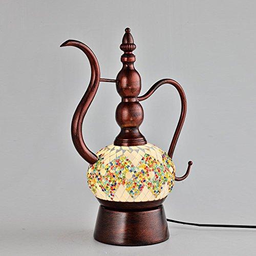 Preisvergleich Produktbild YFF@ILU Retro Wasserkocher Lampe bar Farbe böhmische Glaskunst Lampen,  Golden